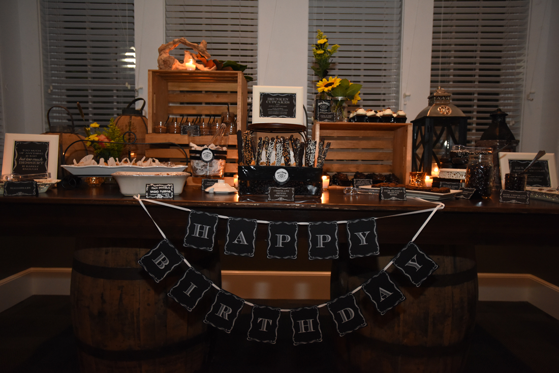 Jack Daniels Themed 40th Birthday Celebration Pavone Events