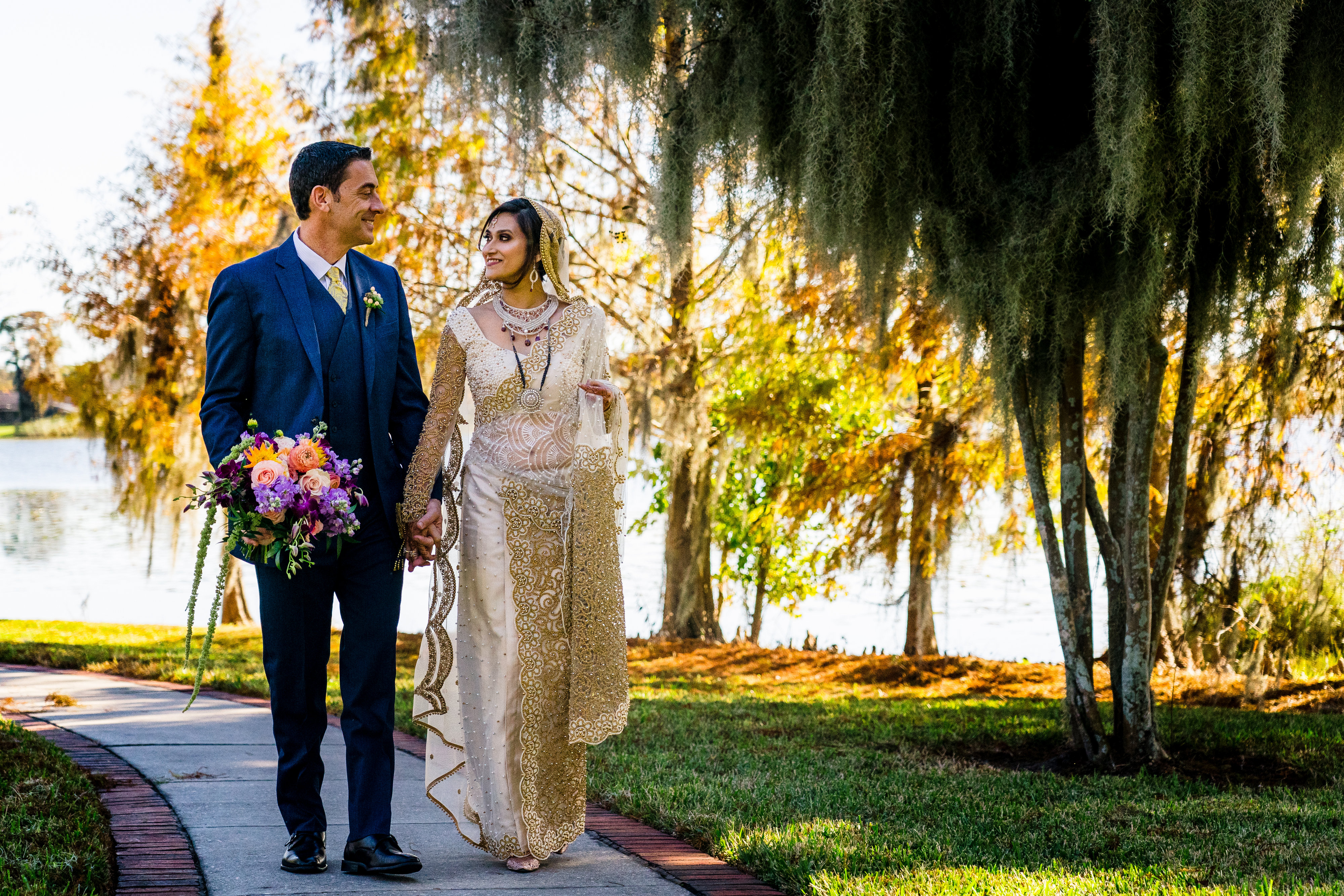 Mika & Doug's Colorful Cypress Grove Estate House Wedding